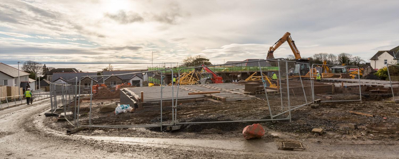 Construction Site, Grange over Sands, Cumbria.