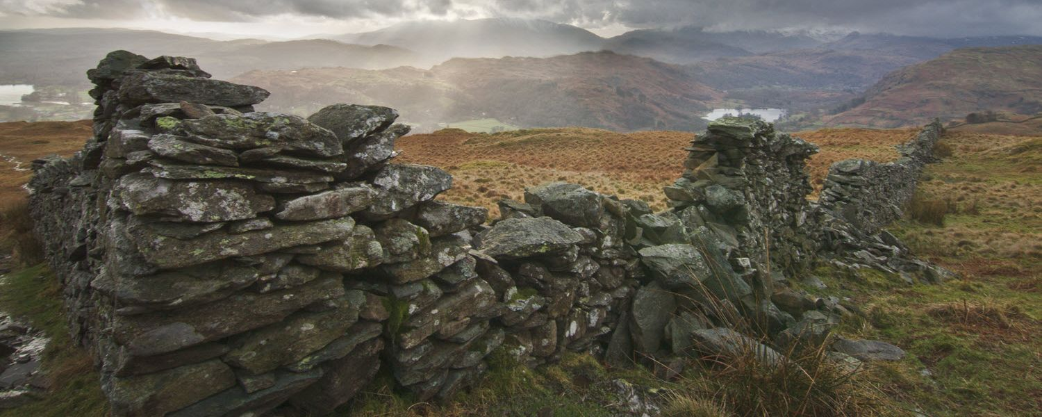 Looking west to Waterhead and Rydal, Cumbria.
