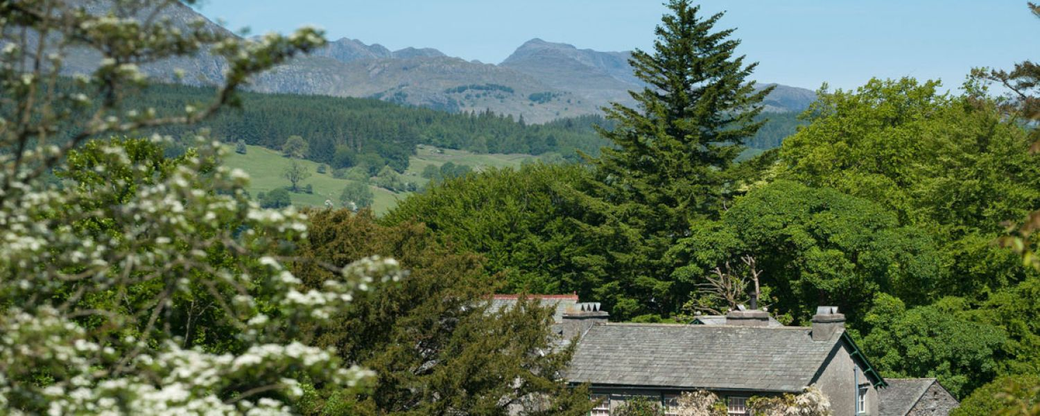 Hill Top looking north to the Langdale Pikes (courtesy of The National Trust)