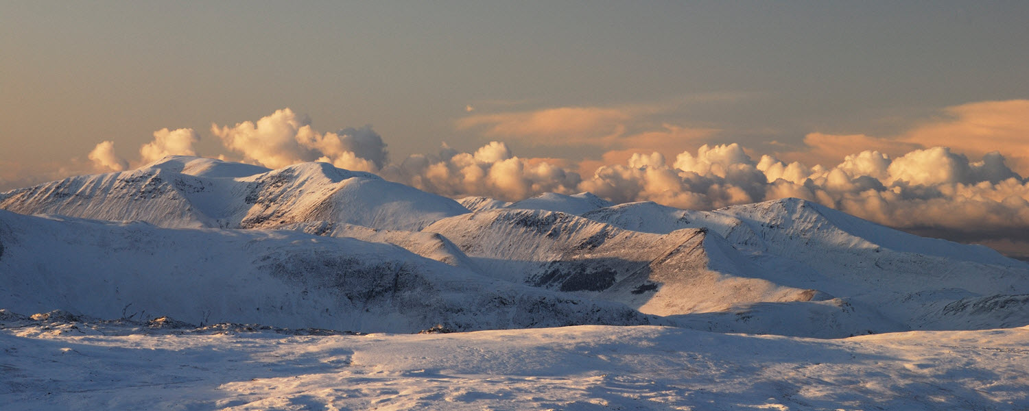 Derwent Fells at dusk